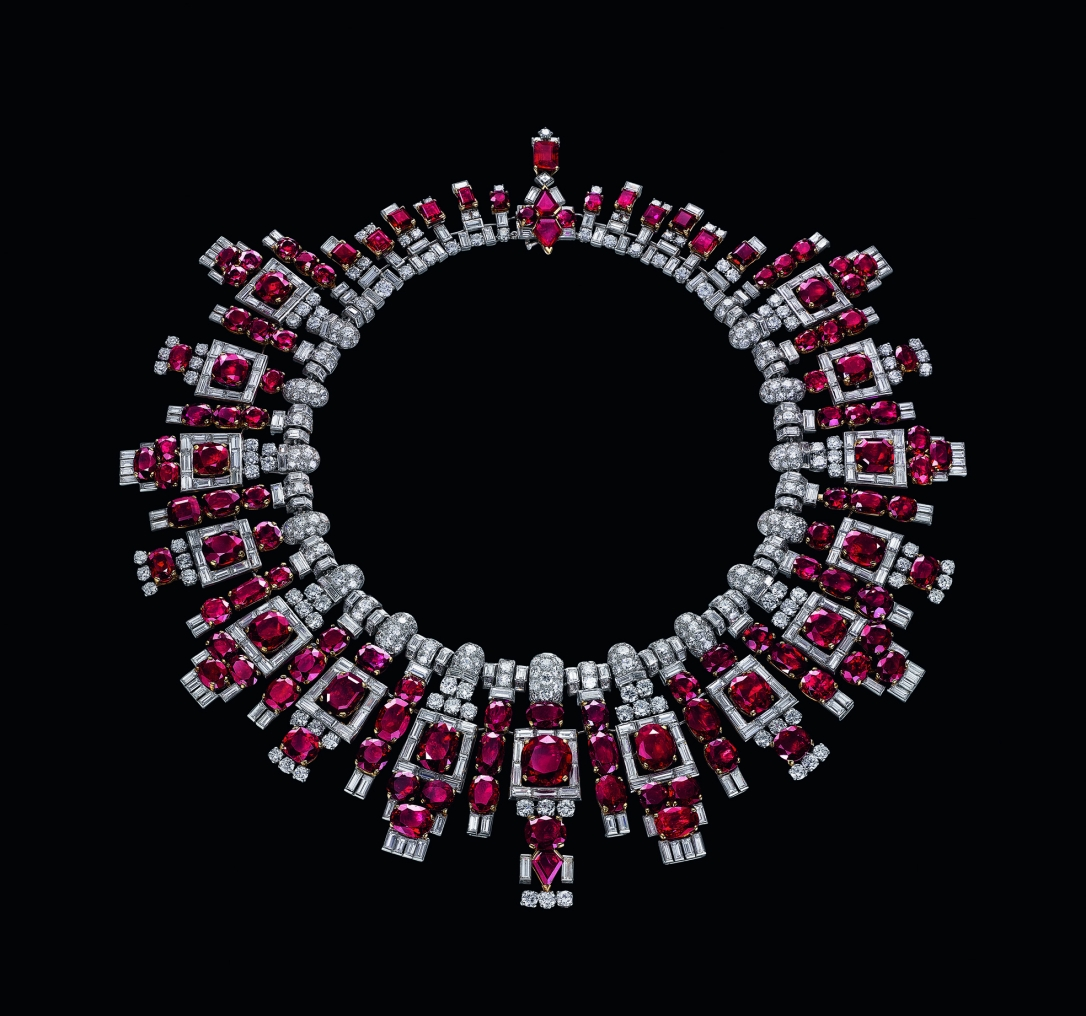 collier rubis de nawanagar